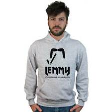 Sudadera Lemmy,música Hard Rock,Heavy Metal,Bigote,Cigarrillo,gris,Motorhead