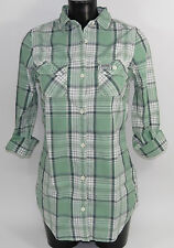 SUPERDRY camisa casual Washbasket hipster-shirt gs4ce39f Green + NUEVO + .TALLA