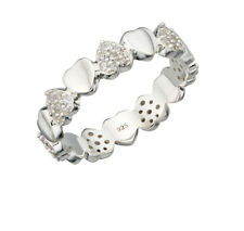 Cuore in argento Sterling Multi Pave Banda
