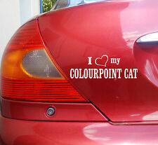 cartattoo4you ai-02091 I Love (Corazón) My colourpoint CAT Pegatina Gato