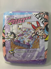 The Powerpuff Girls Blanket Vintage Rare New Twin Or Full Size Beds