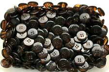 8pc 20mm Tawny Brown Mock Horn Shirt Suit Cardigan Knitwear Button 3997