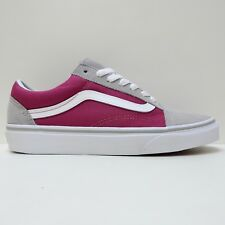 VANS OLD SKOOL DRIZZLE SANGRIA PURPLE WHITE CANVAS TRAINERS