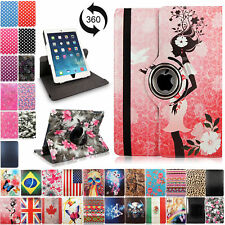 For Apple iPad 2 3 4 Mini Air 360 Rotating Leather Case Smart Folio Stand Cover
