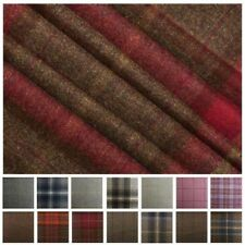 100% PUR Scotish tapisserie laine tissé Tartan à carreaux plaid rideau
