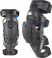 POD MX K8 CARBON MOTOCROSS ENDURO KNEE BRACES PAIR ADULT ALL SIZES & CARRY BAG