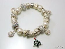 AUTHENTIC PANDORA BRACELET WITH CHARMS WINTER WONDERLAND CHRISTMAS HINGED BOX