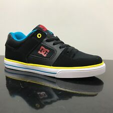 DC SHOES PURE ELASTIC BLACK MULTI YOUTH BOYS KIDS TRAINERS