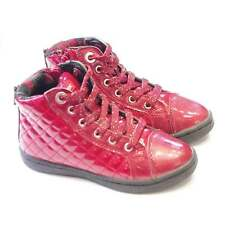 Sale | Girls Geox High Tops | Red Patent Trainer Boots | Geox Creamy