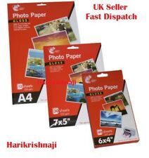 HIGH QUALITY GLOSS PHOTO PAPER A4 7X5, 6X4 DIGITAL GLOSSY INKJET PRINTER 235GSM