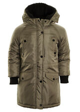 Boy's Classic Retro Parka Coat Hooded Quilted Parka Jacket Smart Coat Ages 5 6 7