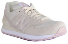 New Balance WL574CIB Shattered Pearl Women Suede Mesh Angora with Faded Rose Tra
