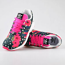 SPECIAL OFFER - ADIDAS ZX FLUX J FLORAL TRAINERS ~ TORSION ~ UK SIZE 3.5 TO 5.5