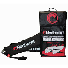 Northcore Double Overhead Soft Unisex Surf Gear Surfboard Rack - Black One Size