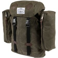 Poler Outdoor Stuff Classic Unisex Rucksack - Waxed Burnt Olive One Size