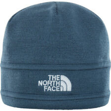 North Face Logo Unisex Headwear Beanie Hat - Conquer Blue Hi Rise Grey One Size
