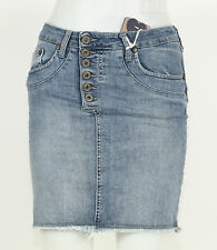 PLEASE GONNA g723bq2d7h 0021 Denim - Blu - Donna - GONNA JEANS + NUOVO + .