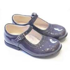 Bopy Savenay | Girls Traditional Shoes in Grey Patent Leather
