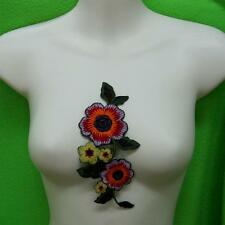 1 Rose Flower Collar Iron on Sew Patch Cute Applique Badge Embroidered Applique