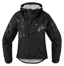 ICON Mujer PDX 2 Impermeable Mujer Moto Cubierta Chaqueta Negro