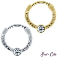 piercing septum piercing de Nez Piercing de nez Mamelon STRASS ARGENT OR BLANC