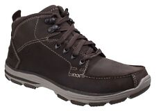 Skechers Garton Dodson Boots Casual Leather Lace Up Memory Foam Insole Mens