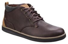 Skechers Helmer Boots Casual Leather Lace Up Memory Foam Insole Ankle Boots Mens