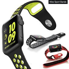 Apple Watch Nike Silicone Band Replacement 38mm 42mm Sport iWatch Strap Series 3