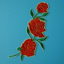 Rose Love Flower Motif Iron on Sew Patch Cute Applique Badge Embroidered Motif
