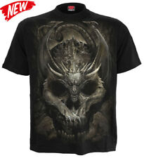 SPIRAL DIRECT NEW DRACO SKULL T-Shirt/Biker/Skull/Wings/Dragon/Mournful/Tee/Top