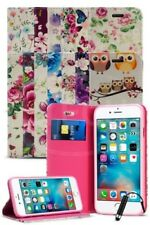para Apple iPhone SE DE LUJO Flor Magnético Funda Tipo Cartera & Mini Pluma