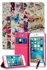 para Apple iPhone 5/5s DE LUJO Flor Magnético Funda Tipo Cartera & Mini Pluma