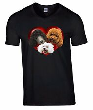 Poodles in a Heart T-shirt for Poodle Dog Lovers, Birthday Gift Xmas Gift