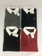 POLO RALPH LAUREN MENS NEW CUSTOM FIT LONG SLEEVE RUGBY TOP SHIRT S M L XL