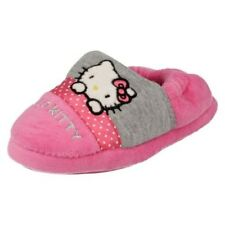 bambini bambine Hello Kitty grigio e rosa SLIP ON PANTOFOLE - Persian