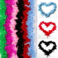 2m Feather Boa STRISCIA MORBIDI Costume Addio al nubilato TRAVESTIMENTO