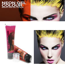 Stargazer UV Neon Hair Gel Temporary One Wash Rave Festival Neon Colours 50ml