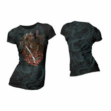 ALCHEMY ENGLAND APPAREL - SAMURAI DRAGON COLOURS GIRLIE T-SHIRT