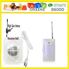 Wireless PIR Sensor Doorbell /Alarm/Receiver /Intruder Alarm