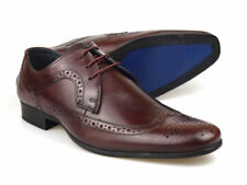 Red Tape Louth rouge foncé homme chaussures richelieu cuir UK 7-12