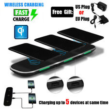 UGI 3in1 Qi Wireless Fast Charger Stand Dock With USB Charging Ports For Samsung