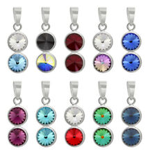 Sterling Silver Rivoli Pendants made with 1122 6mm Swarovski® Crystals