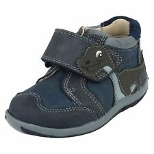 Infant Toddler Boys Clarks Leather Hook & Loop Riptape Ankle Boots - Diplotime