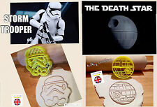 The Death Star and Storm Trooper Star Wars Biscuit Cookie Cutter Fondant CakeDec