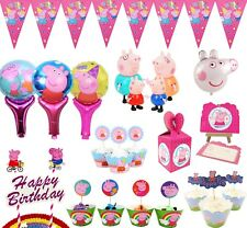 Peppa pig Flag Topper Candy Box Party Tableware Birthday Decorations Supplies