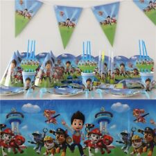 Paw Patrol Plate Flag Cup Topper Party Tableware Birthday Decorations Supplies