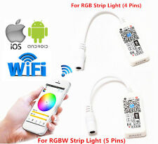 Wifi Remote Control Controller For RGB RGBW LED Strip Light iOS iPhone Android
