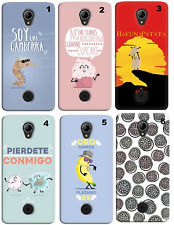 TPU Gel Silicona Carcasa Funda Apple iPhone 5 5S 6 6S Plus 7 8 X DIBUJOS FRASES