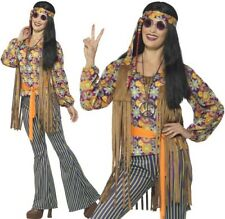 Ladies 60s 1960s Singer Fancy Dress Costume or Hippy Lady Outfit by Smiffys New