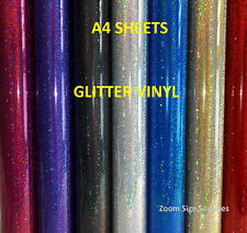 5 PACK A4 SHEETS GLITTER EFFECT SELF ADHESIVE SIGN VINYL STICKY BACK PLASTIC